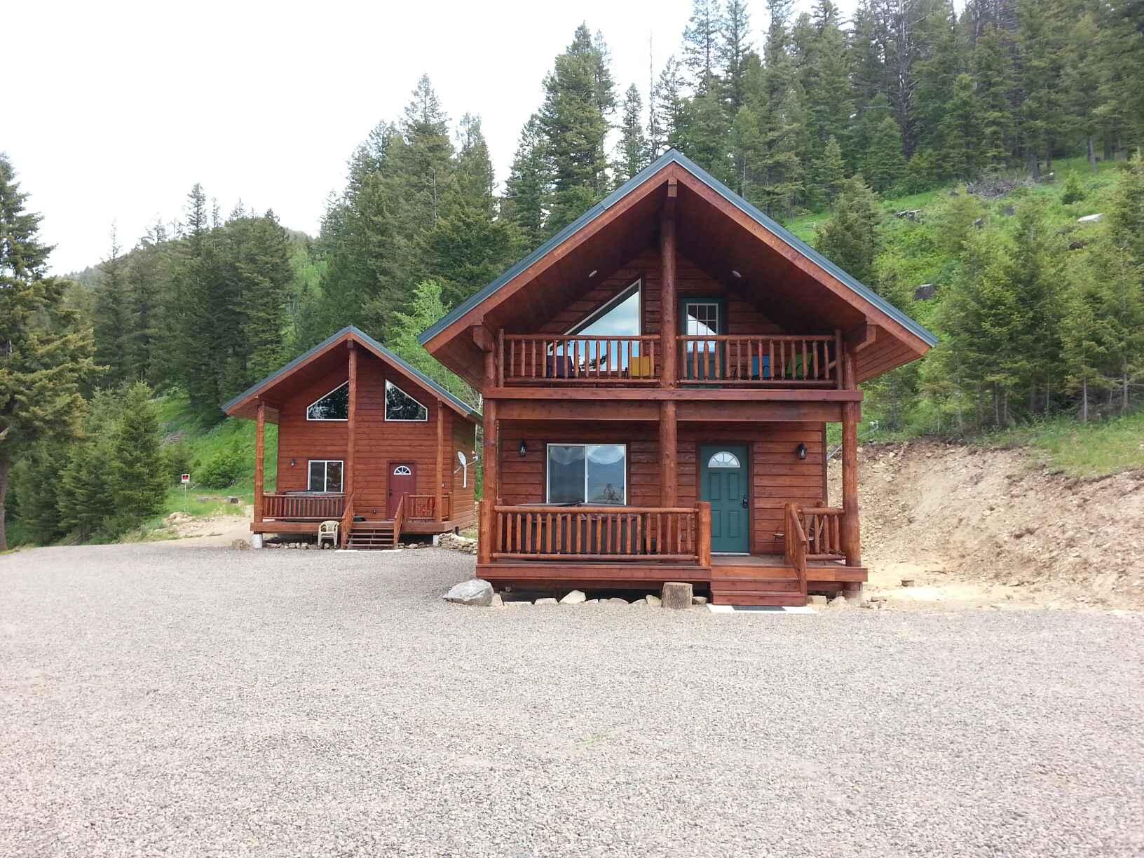 park cabins image idaho retreat island cabin yellowstone rentals